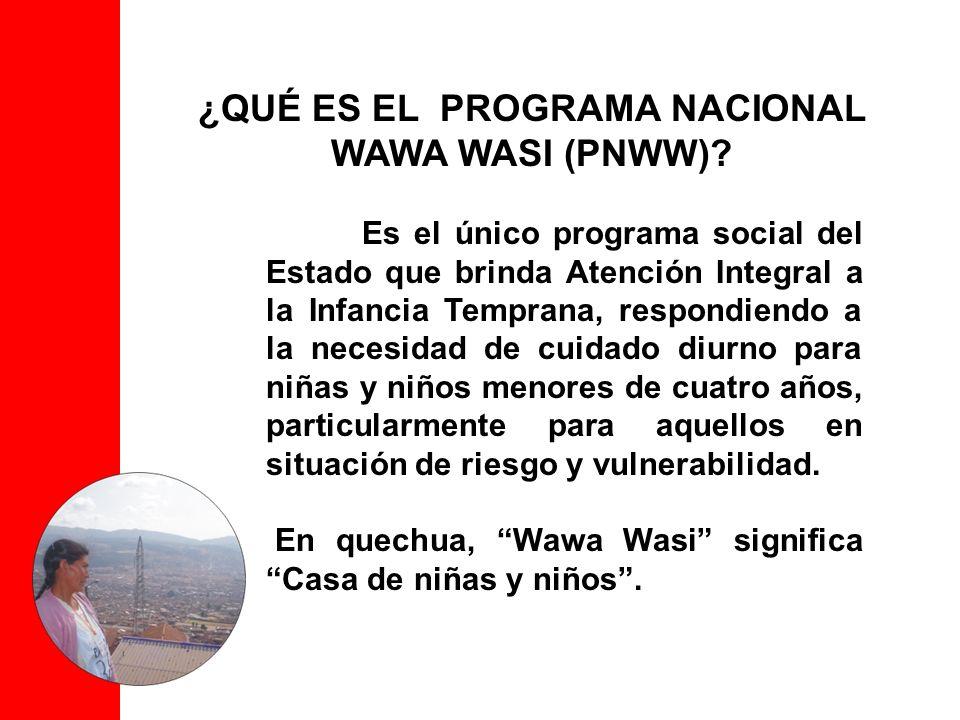 ¿QUÉ ES EL PROGRAMA NACIONAL WAWA WASI (PNWW)