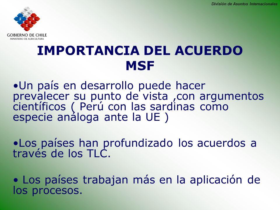IMPORTANCIA DEL ACUERDO MSF