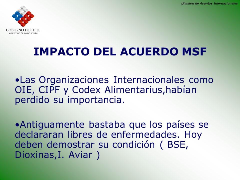 IMPACTO DEL ACUERDO MSF