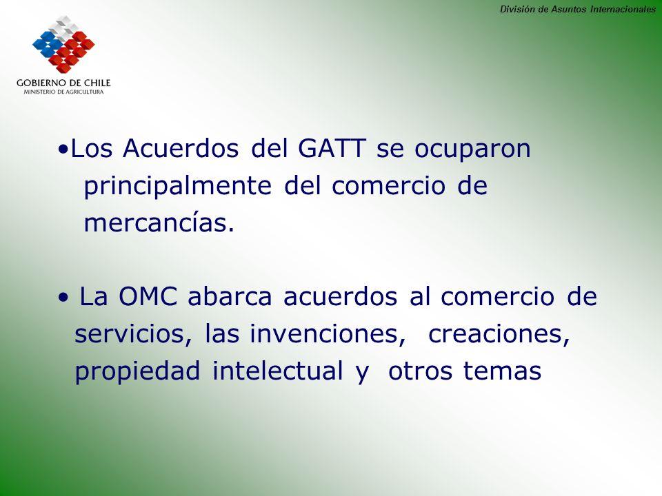 Los Acuerdos del GATT se ocuparon