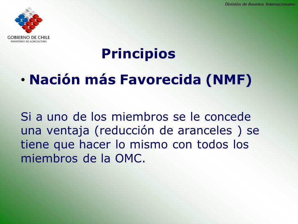 Nación más Favorecida (NMF)
