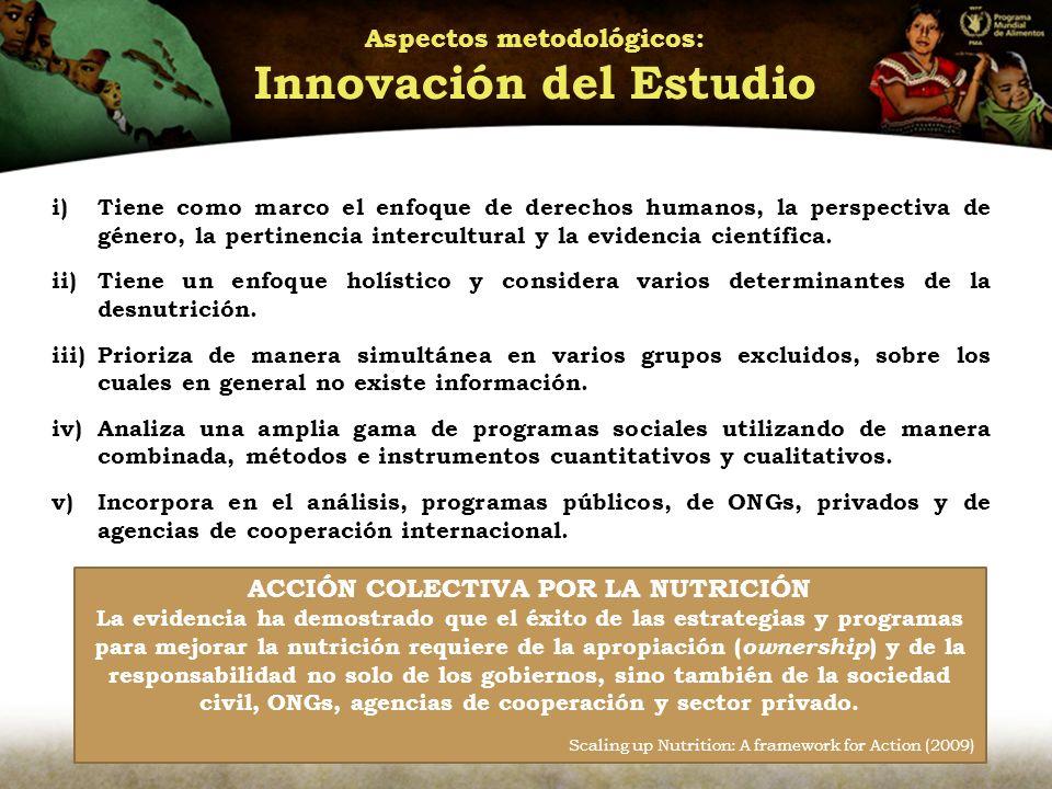 Aspectos metodológicos: Innovación del Estudio