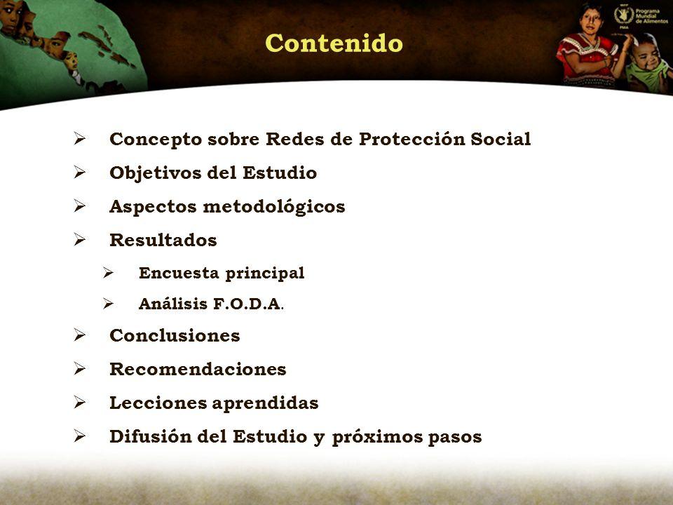 Contenido Concepto sobre Redes de Protección Social