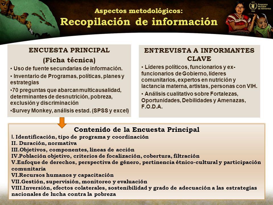 Aspectos metodológicos: Recopilación de información
