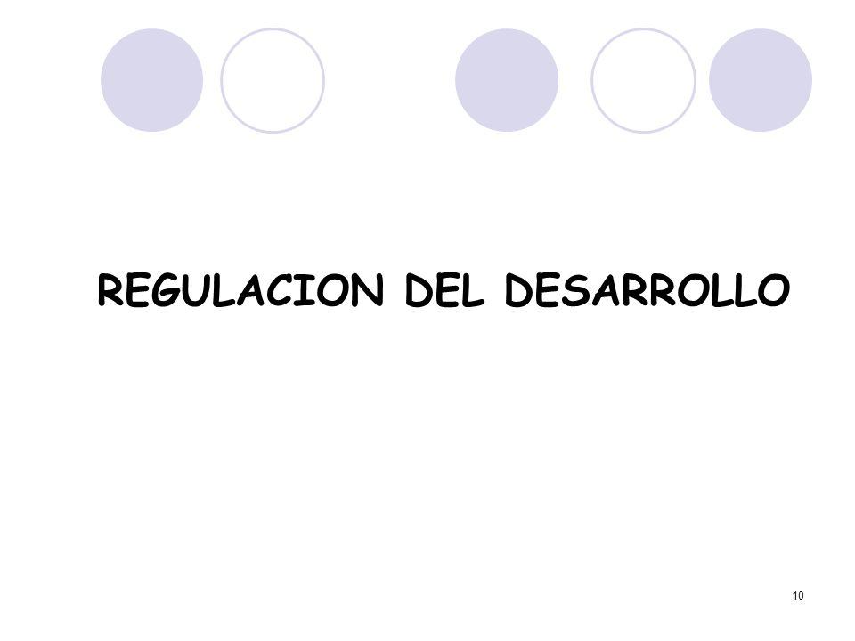 REGULACION DEL DESARROLLO