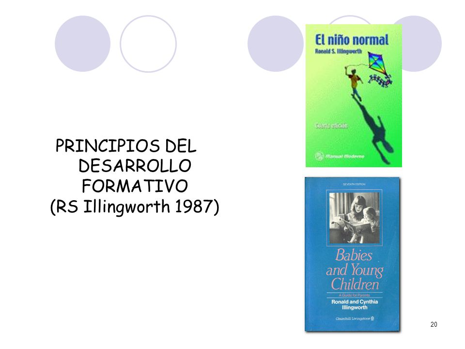 PRINCIPIOS DEL DESARROLLO FORMATIVO (RS Illingworth 1987)