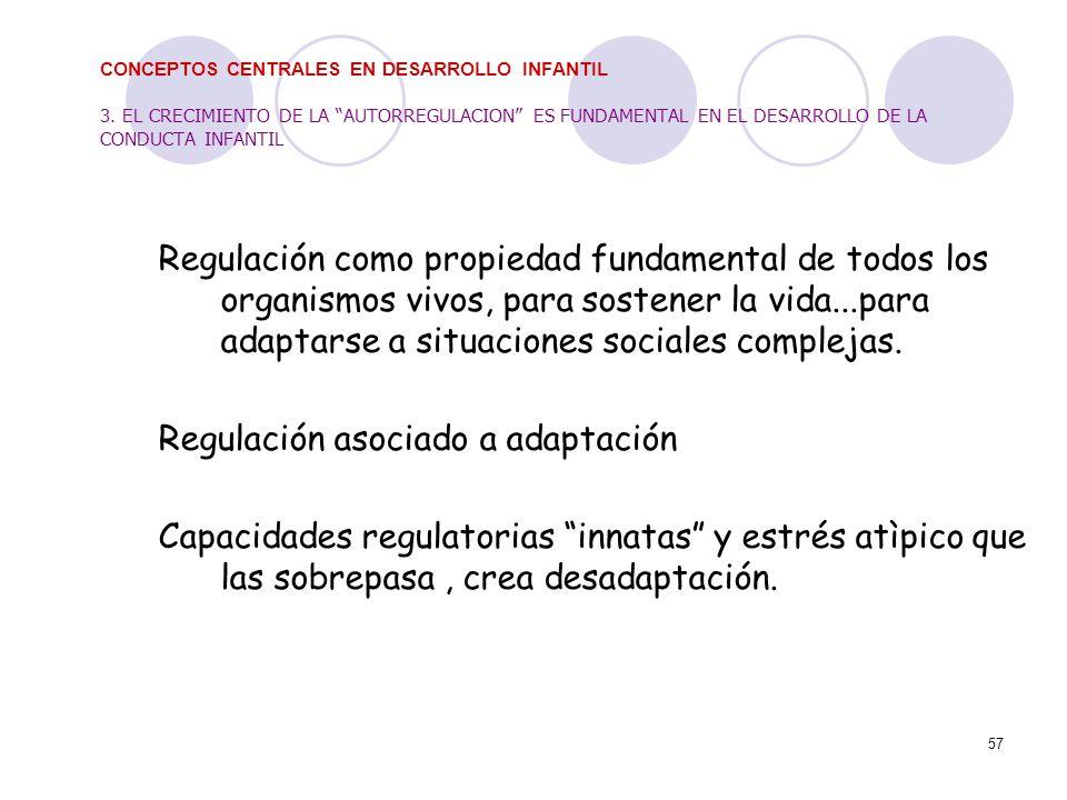 Regulación asociado a adaptación