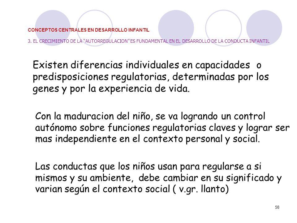 CONCEPTOS CENTRALES EN DESARROLLO INFANTIL 3