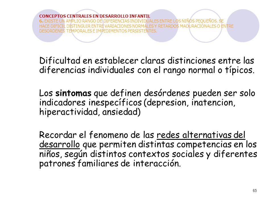 CONCEPTOS CENTRALES EN DESARROLLO INFANTIL 6