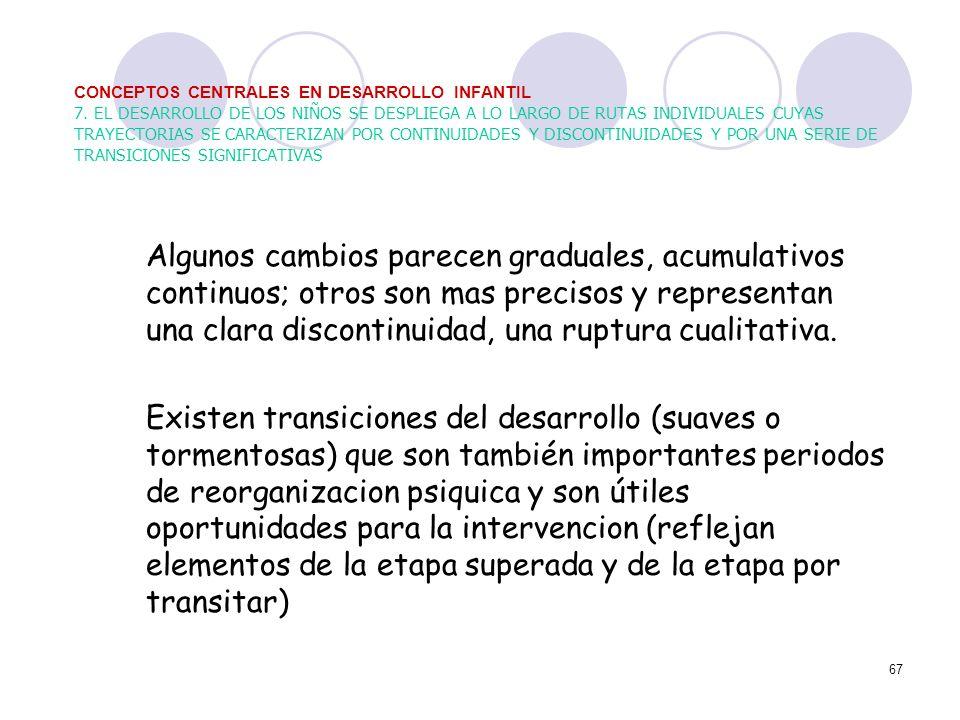 CONCEPTOS CENTRALES EN DESARROLLO INFANTIL 7