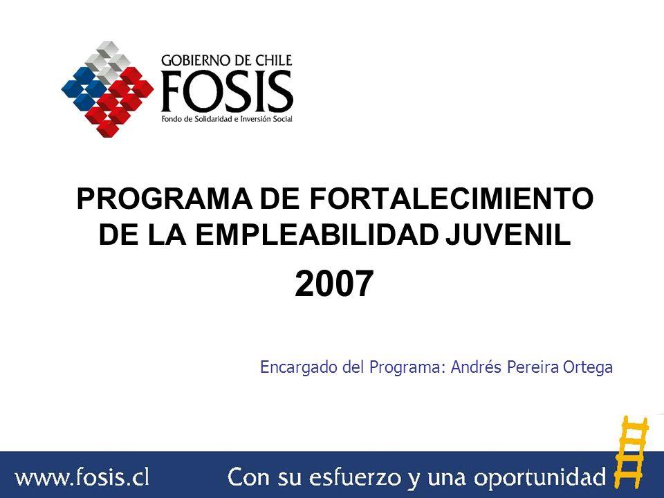 PROGRAMA DE FORTALECIMIENTO DE LA EMPLEABILIDAD JUVENIL