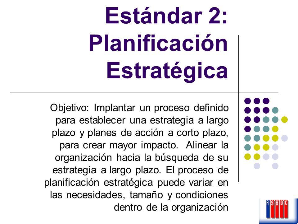 Estándar 2: Planificación Estratégica