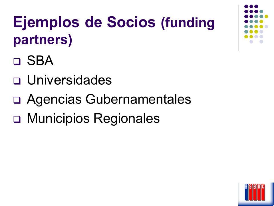 Ejemplos de Socios (funding partners)