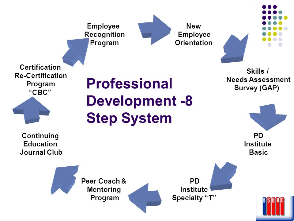 Professional Development -8 Step System