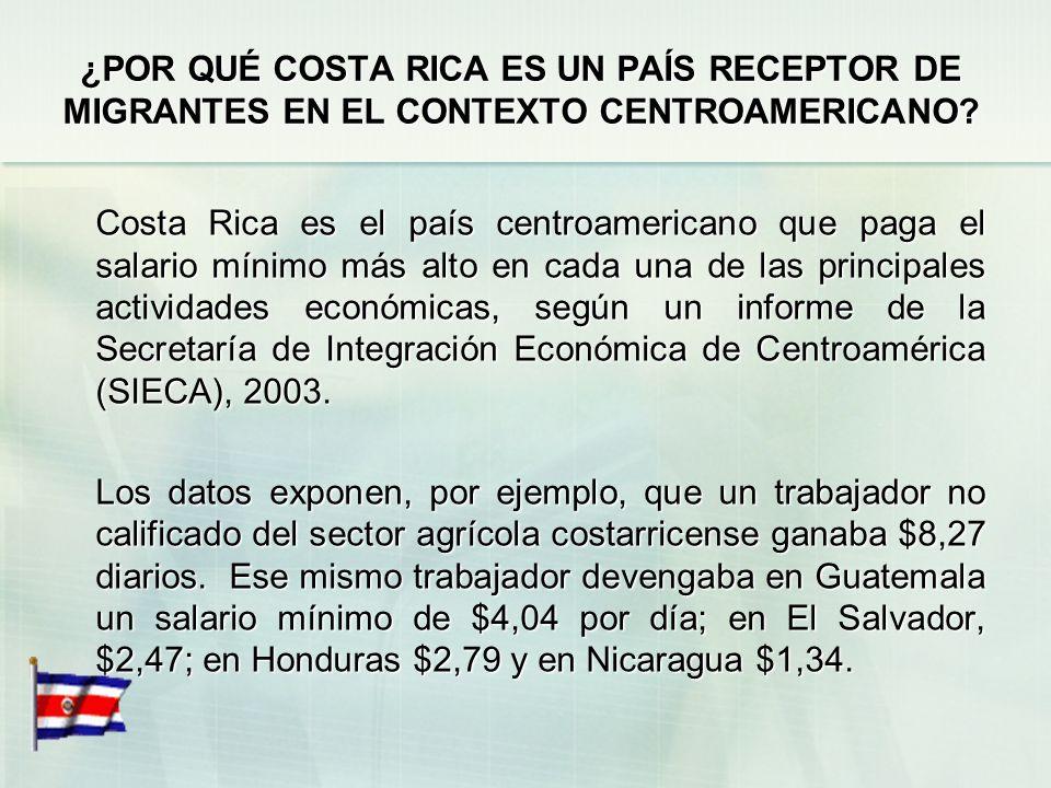 ¿POR QUÉ COSTA RICA ES UN PAÍS RECEPTOR DE MIGRANTES EN EL CONTEXTO CENTROAMERICANO