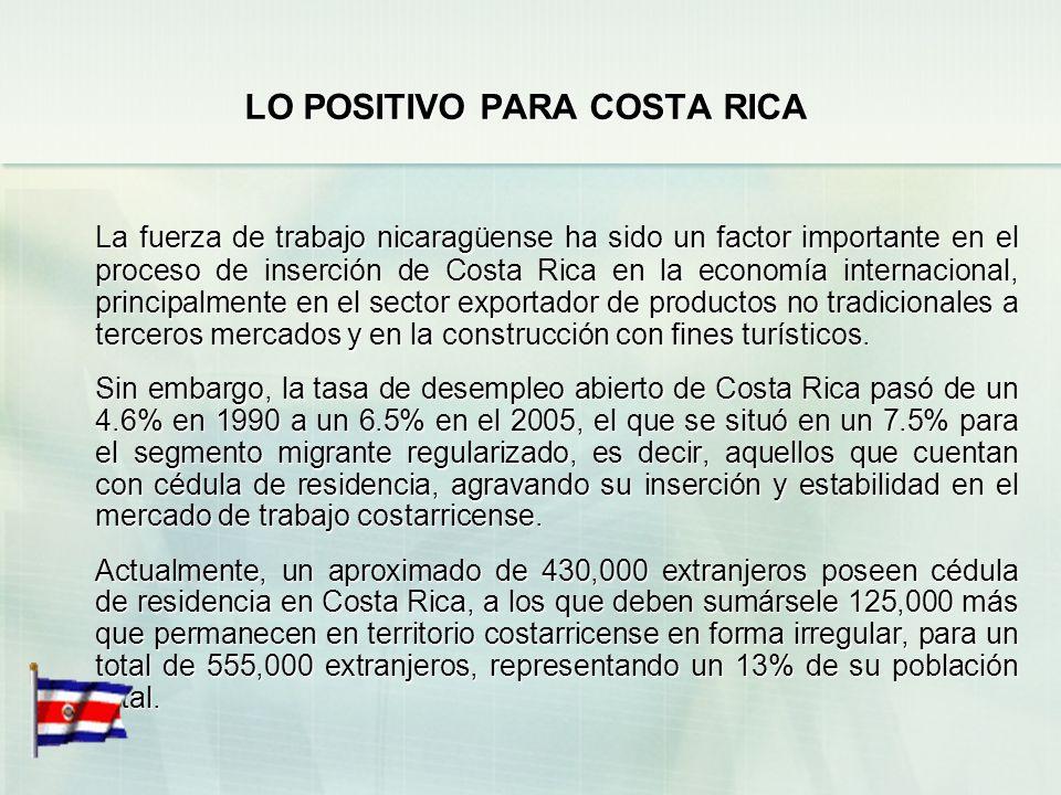 LO POSITIVO PARA COSTA RICA