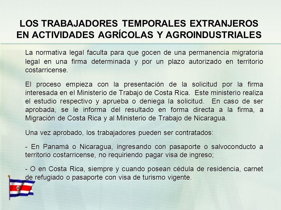 LOS TRABAJADORES TEMPORALES EXTRANJEROS EN ACTIVIDADES AGRÍCOLAS Y AGROINDUSTRIALES