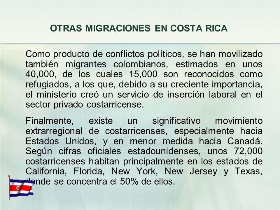 OTRAS MIGRACIONES EN COSTA RICA