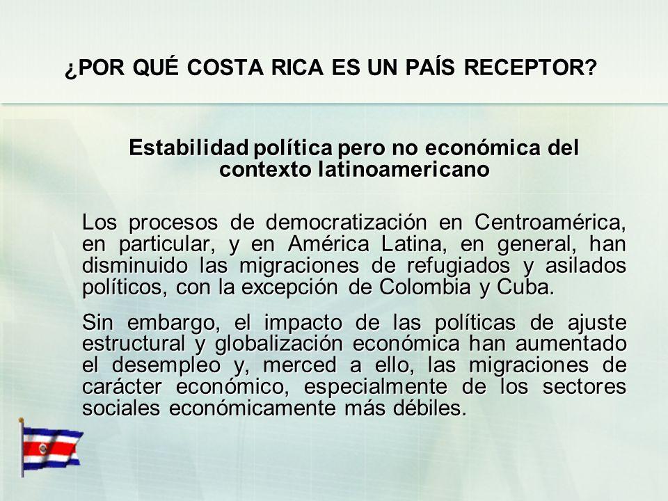 ¿POR QUÉ COSTA RICA ES UN PAÍS RECEPTOR