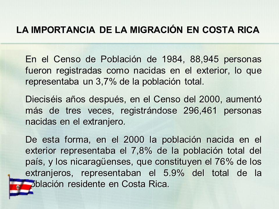 LA IMPORTANCIA DE LA MIGRACIÓN EN COSTA RICA