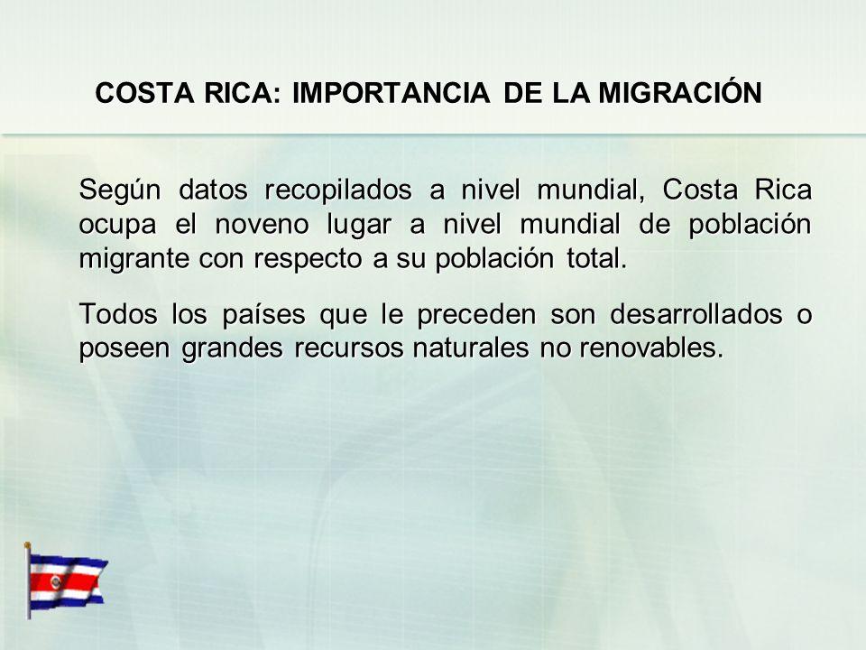 COSTA RICA: IMPORTANCIA DE LA MIGRACIÓN