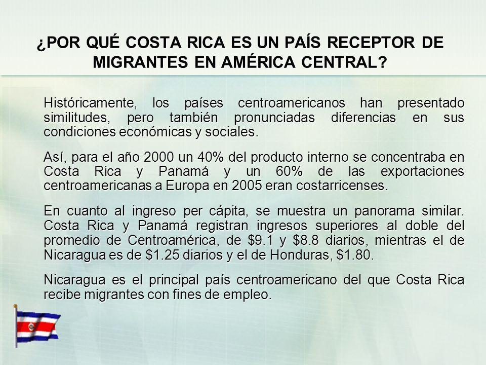 ¿POR QUÉ COSTA RICA ES UN PAÍS RECEPTOR DE MIGRANTES EN AMÉRICA CENTRAL