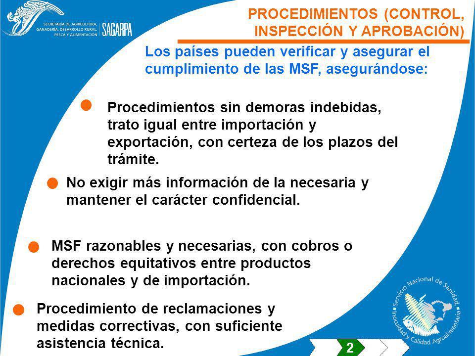 PROCEDIMIENTOS (CONTROL, INSPECCIÓN Y APROBACIÓN)