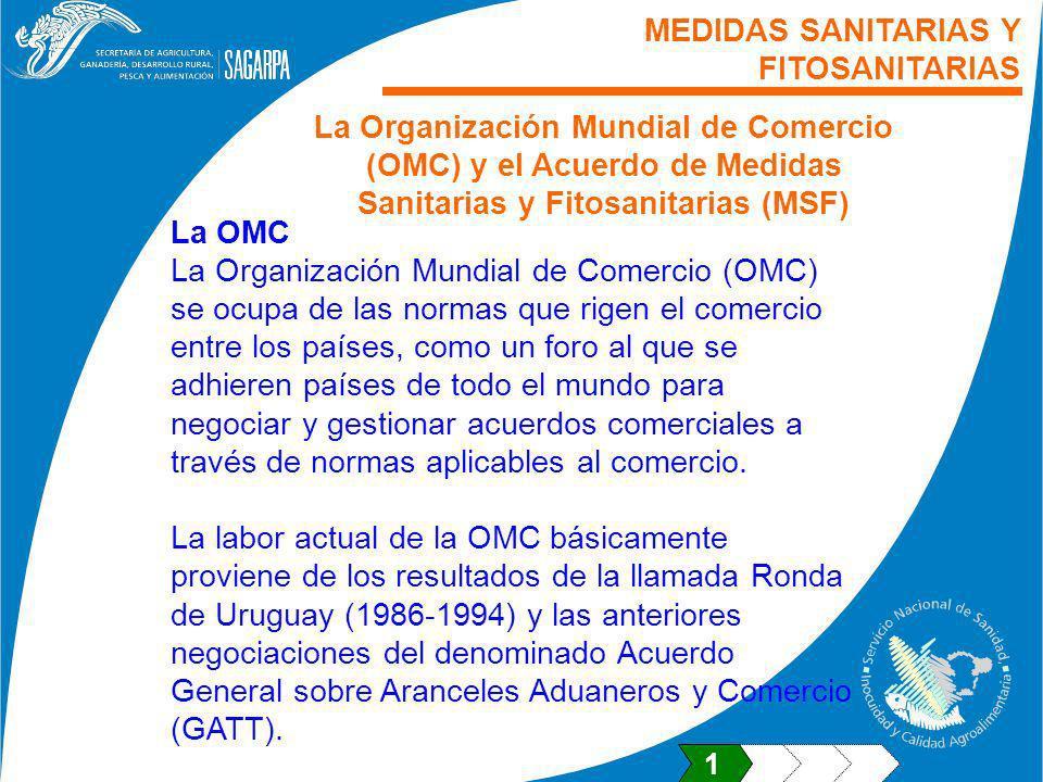 MEDIDAS SANITARIAS Y FITOSANITARIAS
