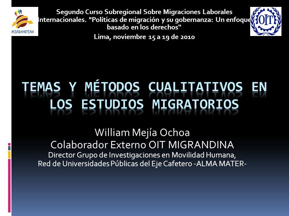 Temas y métodos cualitativos en los estudios migratorios