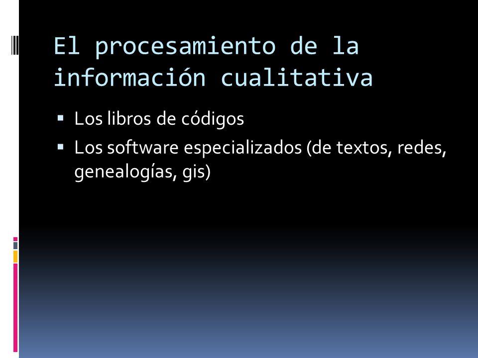 El procesamiento de la información cualitativa