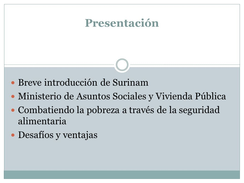 Presentación Breve introducción de Surinam