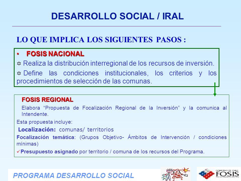 DESARROLLO SOCIAL / IRAL