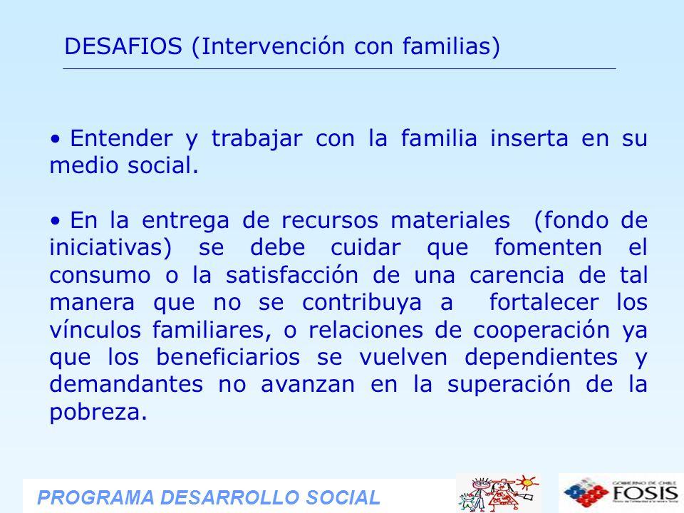 DESAFIOS (Intervención con familias)