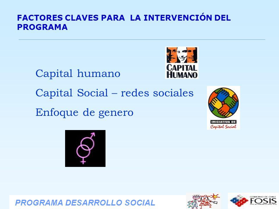 Capital Social – redes sociales Enfoque de genero