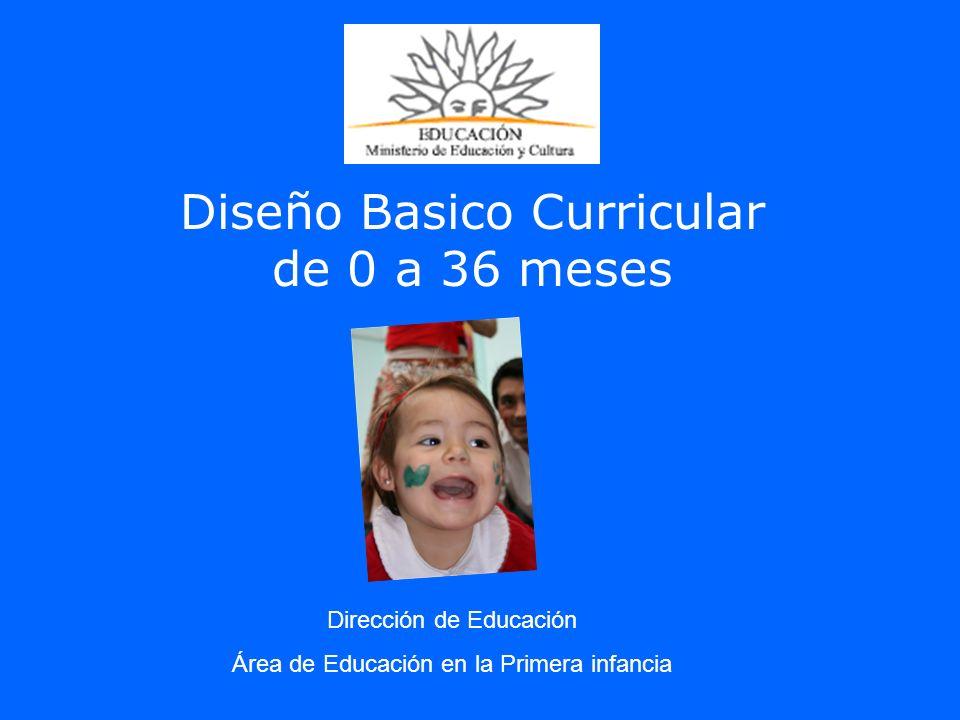 Diseño Basico Curricular de 0 a 36 meses