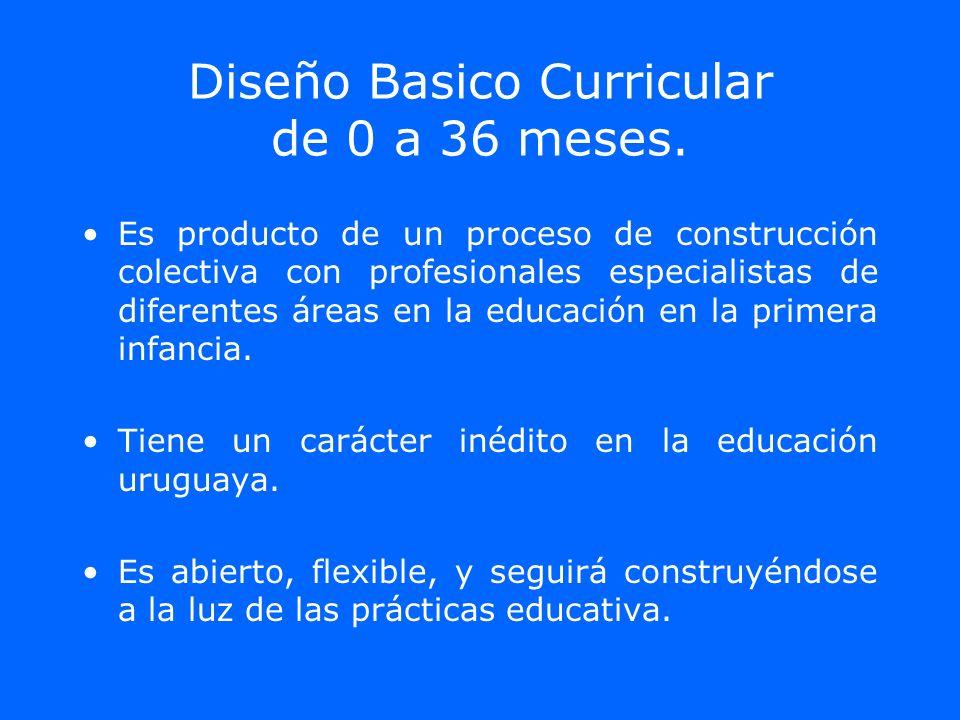 Diseño Basico Curricular de 0 a 36 meses.