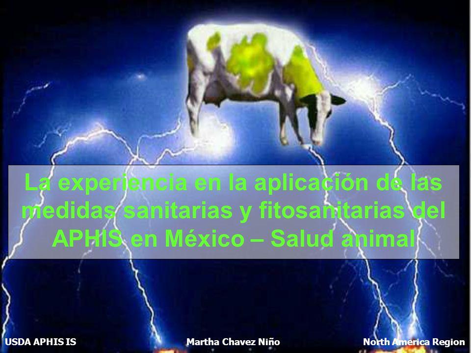 La experiencia en la aplicación de las medidas sanitarias y fitosanitarias del APHIS en México – Salud animal