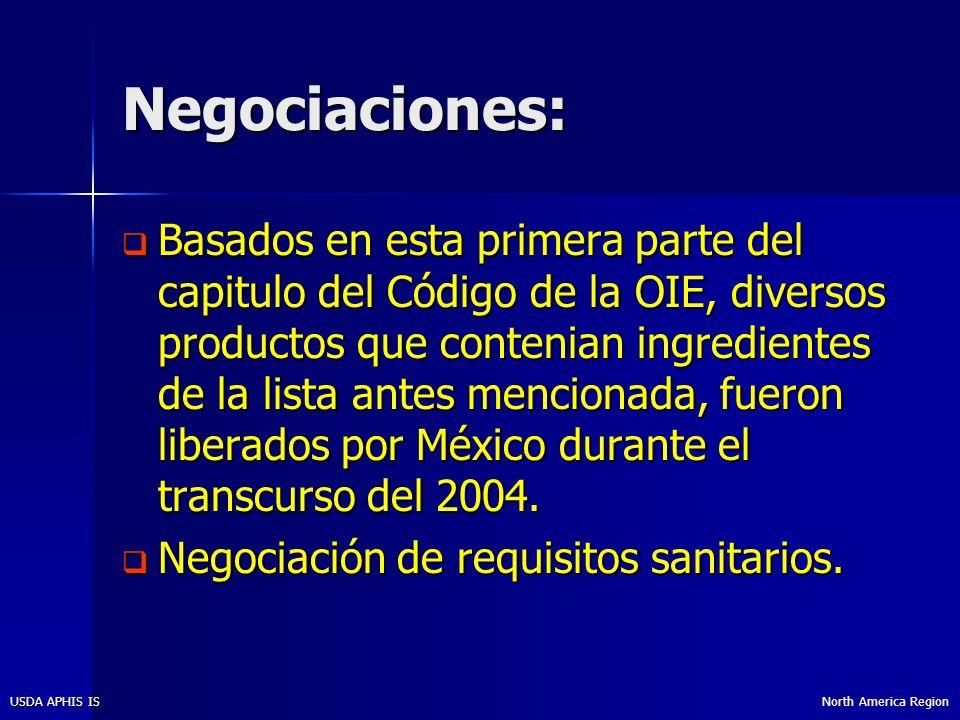Negociaciones: