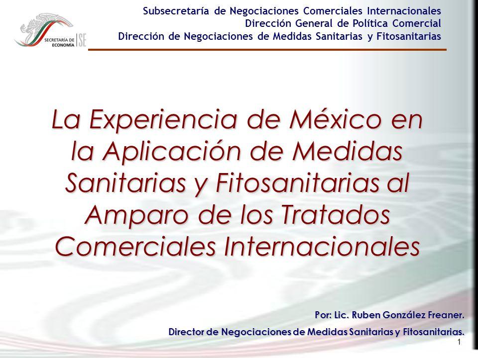 Subsecretaría de Negociaciones Comerciales Internacionales Dirección General de Política Comercial