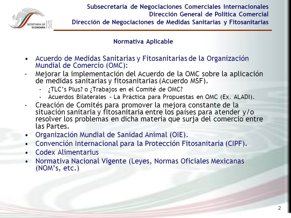 Organización Mundial de Sanidad Animal (OIE).