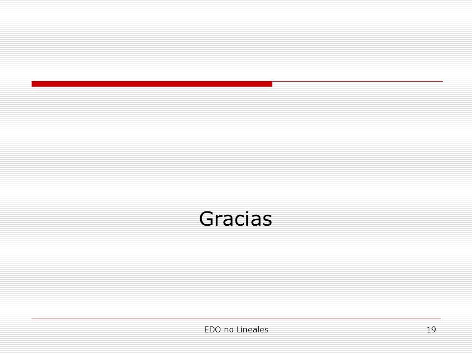 Gracias EDO no Lineales