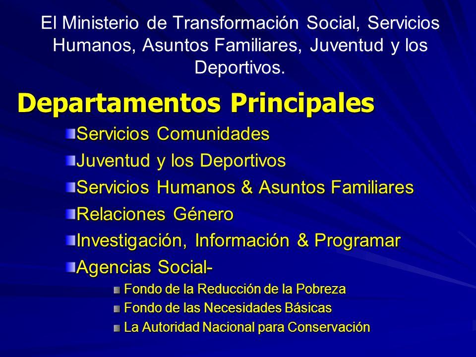 Departamentos Principales
