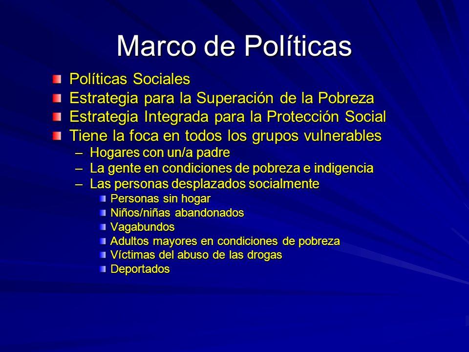 Marco de Políticas Políticas Sociales