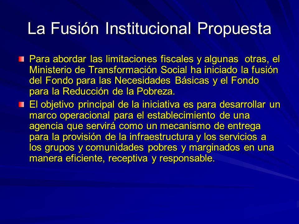 La Fusión Institucional Propuesta