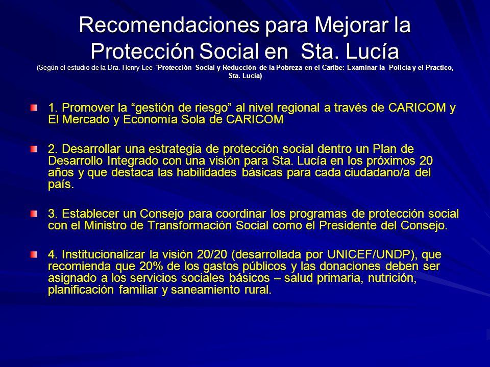 Recomendaciones para Mejorar la Protección Social en Sta