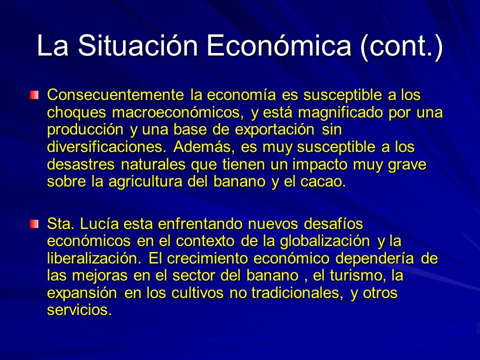 La Situación Económica (cont.)