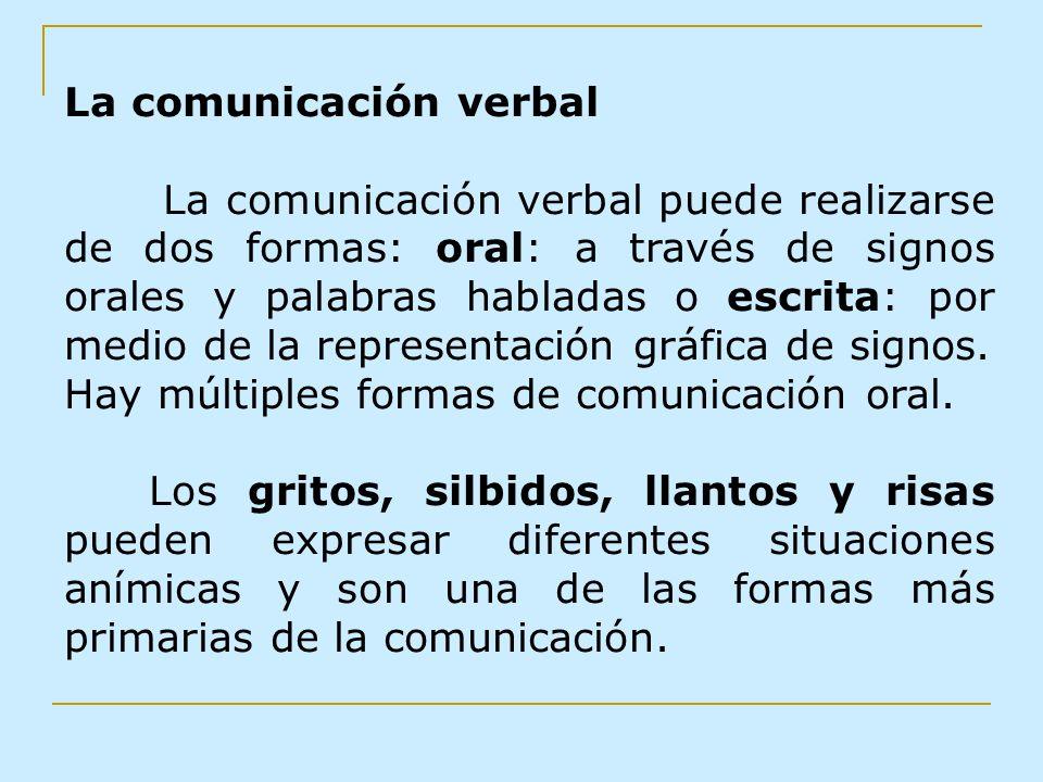 La comunicación verbal