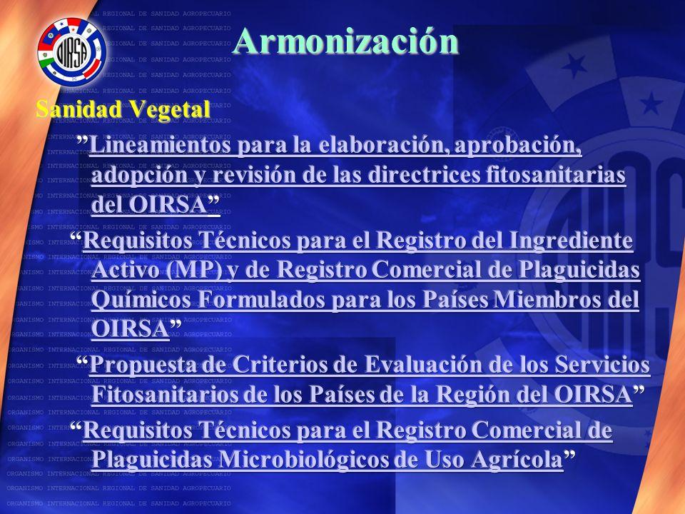 Armonización Sanidad Vegetal