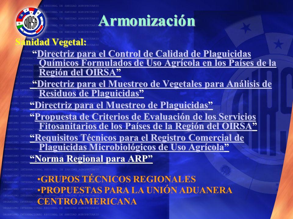 Armonización Sanidad Vegetal: