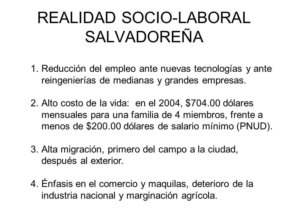 REALIDAD SOCIO-LABORAL SALVADOREÑA